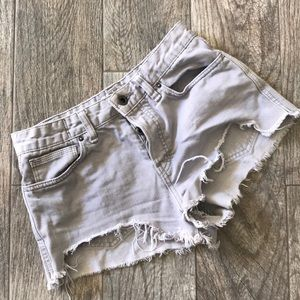 Free people distressed high waisted shorts